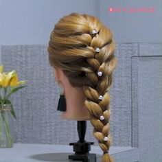 Simple French Braid Tutorial: Step By Step Picture Guide, - Braid Hairstyle French Braid Ponytail, French Braid Hairstyles, Braided Hairstyles For Black Women, Step By Step Hairstyles, Easy Hairstyles For Long Hair, Braided Hairstyles Tutorials, Box Braids Hairstyles, Twist Hairstyles, Hairstyles Videos