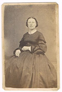 Woman NOT in Mourning Wearing Hair braided and in hair net 3 Cent Tax Revenue Stamp CDV | eBay