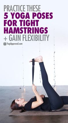 Exercise For Beginners Find relief from hip or back pain with yoga for tight hamstrings. Learn 5 yoga poses for hamstring flexibility. - Find relief from hip or back pain with yoga for tight hamstrings. Learn 5 yoga poses for hamstring flexibility. Yoga Beginners, Beginner Yoga, Ashtanga Yoga, Yoga Régénérateur, Yoga Flow, Kundalini Yoga, Namaste Yoga, Iyengar Yoga, Vinyasa Yoga