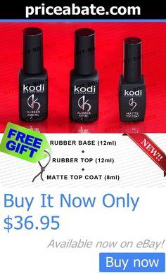 Nails: Kodi Professional Rubber Base Matte Top Coat Velour Nail Gel Polish BUY IT NOW ONLY: $36.95 #priceabateNails OR #priceabate