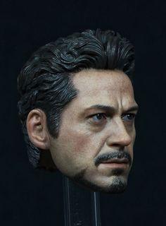 New Edition Tony Headplay 1/6  Scale Avengers Iron Man Tony Head sculpt  Head…
