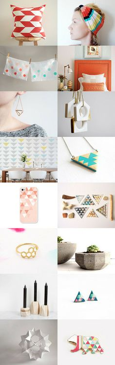 • Spring Geometry •  by Erin Beutel on Etsy --Pinned with TreasuryPin.com