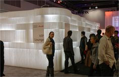 Audi using products from molo design for the exhibition stand.