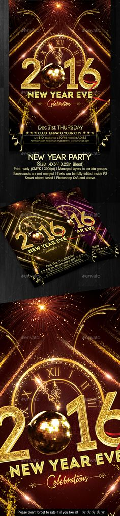 New Year Party Flyer  Party Flyer Flyer Template And Graphics