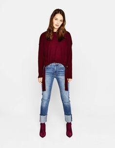 Bershka United States - Asymmetric knit sweater