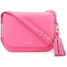 kate spade new york orchard street penelope crossbody bag ($340) ❤ liked on Polyvore featuring bags, handbags, shoulder bags, tulip pink, crossbody messenger bag, kate spade purses, pink cross body purse, pink shoulder bag and kate spade handbag