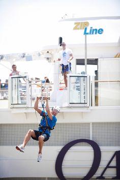 I am SO doing this! .... Zip line at sea onboard #AllureoftheSeas #OasisoftheSeas