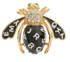 Joan Rivers Spelling B Bee Pin in black (other color option white)