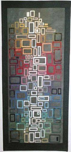 Melissa Craven Fowler Collage Tower In The Sky © 2002 x Judge's Choice Award, Schweinfurth Art Center 2002 Quilts = Art = Quilts Vintage Embroidery, Embroidery Patterns, Quilt Patterns, Embroidery Art, Quilting Projects, Quilting Designs, Quilt Modernen, Lazy Daisy Stitch, Art Textile