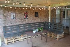 DIY Pallet Furniture Ideas - DIY Outdoor Patio Furniture from Pallets - Best Do It Yourself Projects Made With Wooden Pallets - Indoor and Outdoor, Bedroom, Living Room, Patio. Coffee Table, Couch, Dining Tables, Shelves, Racks and Benches http://diyjoy.com/diy-pallet-furniture-projects