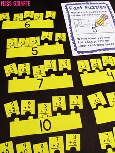Awesome math stations and activities for addition fact fluency!!