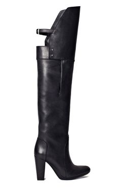 Black Ora Over The Knee Boot by 3.1 Phillip Lim. Ordered by Bleu.  Expect in the store and online in July 2013.  They are rad