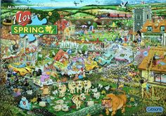 GIBSONS 'I LOVE SPRING' By MIKE JUPP - 1000 PIECE JIGSAW PUZZLE FOR SALE • £4.25 • See Photos! Money Back Guarantee. 'I LOVE SPRING' Here is Spring as you have never seen it before! There is a chuckle a minute in this amazingly detailed puzzle illustrated by bestselling artist Mike Jupp, 351908940730