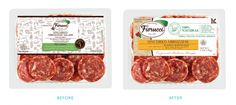 Before & After Packaging for Fiorucci® meat products.
