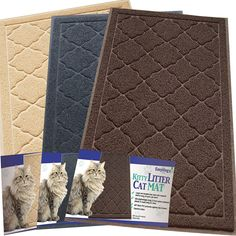 Easyology Premium Cat Litter Mat - XL Super Size - Best Extra Large Scatter Control Kitty Litter Mats for Cats Tracking Litter Out of Their Box - Soft to Paws- Elegant for Your Home- (Patent Pending) -- Click on the image for additional details. (This is an Amazon affiliate link)