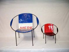 recycled oil drum chairs by Iman Deco