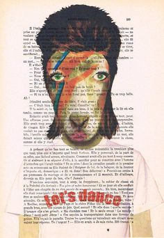 David Bowie Goat Print Poster Illustration Acrylic by Cocodeparis, $10.00