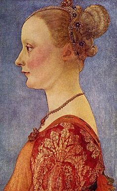 Antonio Pollaiuolo. Portrait of a Young Lady Portraits of  Women in Italian Renaissance Painting #TuscanyAgriturismoGiratola