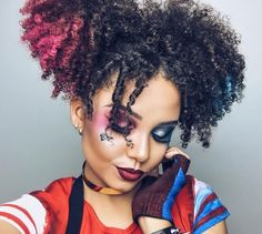 6 Women That Nailed Their Hair And Make Up Looks For #Harleyquinn On Instagram [Gallery]  Read the article here - http://www.blackhairinformation.com/general-articles/playlists/6-women-nailed-hair-make-looks-harleyquinn-instagram-gallery/