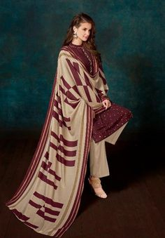 bd1499ccda Shahnaz Arts Inspire 2 Pashmina Dobby Print With Embroidery Suit D.No 2005
