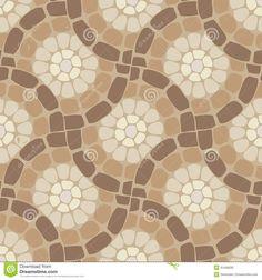 Vector Tile Mosaic Floor, Stone Background Stock Vector - Image ...