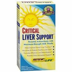 Renew Life - Critical Liver Support, 90 veggie caps by Renew Life. $23.59. Save 41%! Sports Nutrition, Fitness Nutrition, Liver Detoxification, Healthy Liver, Milk Thistle, Herbalism, Life, Free Shipping