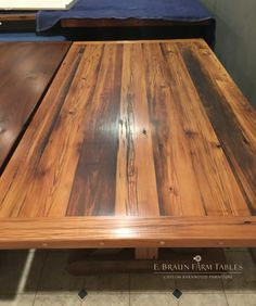 """Heart Pine"" from the center of the tree creates this beautiful grain pattern. Let the natural patina show through your furniture. Custom handcrafted by E. Braun Farm Tables and Furniture in the heart of Amish Country - Lancaster County, PA. © 2016 E. Braun Farm Tables and Furniture™ www.braunfarmtables.com"