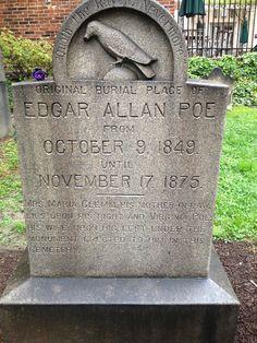 Grave of Edgar Allan Poe in Baltimore, MD
