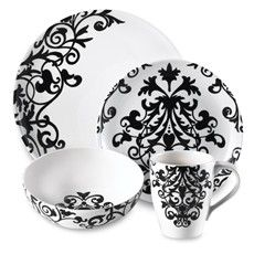 Rococo Black and White 16-Piece Dinnerware Set | Shop home | Kaboodle  sc 1 st  Pinterest & Friday Finds u2013 week 47 2007. | Damasks Gift and Weddings