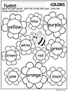 Learn Your Colors Worksheet For Kids. Free printable for