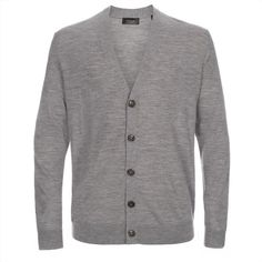 Paul Smith Men's Grey Marl Merino Wool Cardigan ($275) ❤ liked on Polyvore featuring mens, men's clothing y men's sweaters