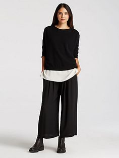 Women's Cashmere Sweaters & Cardigans at EILEEN FISHER
