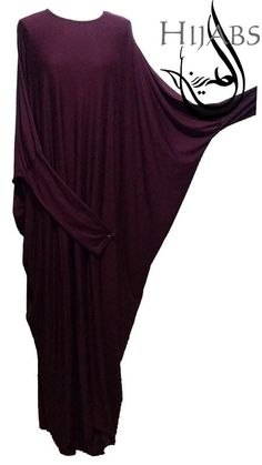 Jersey Batwing Abaya - Maroon  This website has super-affordable every day abayat!