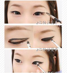 "**~Zibees.com~** Fashion Guilt DIY/Tips!!: Single eye lid Asian Chinese Korean Japanese Makeup DIY ""How to"" ANGELIC Beauty TUTORIAL"