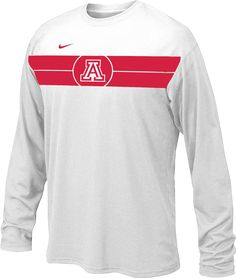 6696730807af Nike Youth Arizona Wildcats Basketball Legend White Long Sleeve T-Shirt