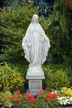 Lovely Blessed Mother Outdoor Statues | 65u2033 BLESSED MOTHER MARY STATUE