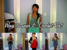 Como llevar Chaleco de Crochet