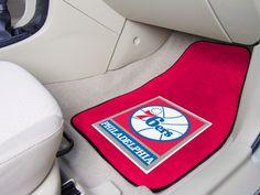 Show your team spirit everywhere you go with officially licensed NBA team logo carpet car floor mats!