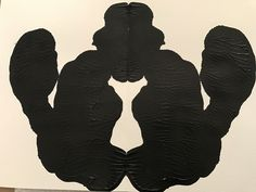 Day 207 - #make365 an inkblot. I see kissing squirrels what do you see?