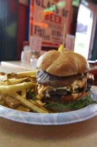 """the perfect burger from Terry's Turf Club in Cincinnati. It was even featured on the Food Network's """"Diners, Drive-ins and Dives"""" Dove Recipes, Great Recipes, Favorite Recipes, Chef Guy Fieri, Cincinnati Food, Diner Food, Burger Dogs, Pizza Sandwich, Grove City"""