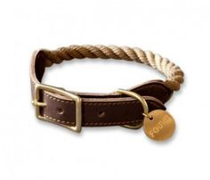 product, dog collars, stuff, puppi breath, leather collar, pet, ropes, reclaim leather, rope collar