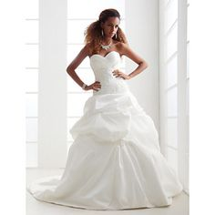 Lanting Bride® A-line / Princess Petite / Plus Sizes Wedding Dress - Classic