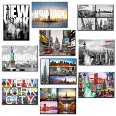 10 set New York NYC Souvenir Large Photo Picture Fridge Magnets 25 x 35 inch  Pack of 10 -- For more information, visit image link. Note:It is Affiliate Link to Amazon.