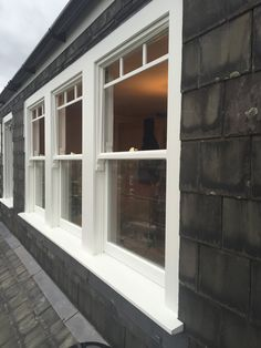 Timber sash window installation in Highgate, north London - Enfield Windows Double Hung Windows Exterior, Windows, Windows And Doors, Upvc Sash Windows, Windows Exterior, Picture Windows Exterior, Window Remodel, Living Room Door, Interior Design Living Room