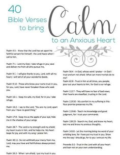 40 Bible Verses to Calm an Anxious Heart - Elisa Pulliam: Equipping Women for Today - Crafting By Holiday Christian Life, Christian Quotes, Christian Living, Beautiful Words, Bibel Journal, Writing Plan, Encouragement, Life Quotes Love, Fit Quotes