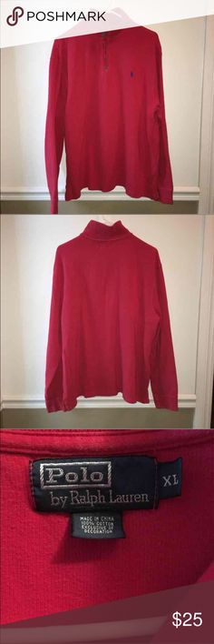 Polo by Ralph Lauren 1/4 zip This 1/4 zip is an essential for your closet! Has some fading and wear to give it a distressed vintage look. No stains, rips or tears and perfect for the fall weather! Polo by Ralph Lauren Shirts