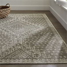 "Vintage pressed metal work embroidery common in 1920s fashion lives on Genevieve Bennett's design for the Mirren rug.  Handknotted by skilled artisans, rug has a zero-pile ground with a heathered effect decorated with a slightly raised design. A hand-serged edge adds to the rug's country cottage appeal.<br /><br />Order rugs (up to 6'x9') on-line and pickup in a <a href=""/stores/list-state.aspx"">store near you</a>. It's fast, easy and free.<br /><br />For 8'x10' and larger rugs, order…"
