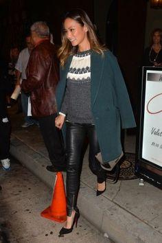 Emmy Rossum wearing Christian Louboutin So Kate Pumps J. Mendel ...