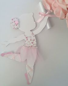 Convite Bailarina Ballerina Birthday Parties, Ballerina Party, Baby Birthday, Ballerina Nursery, Ballerina Silhouette, Baby Shawer, Tissue Paper Flowers, Baby Shower Decorations, Homemade Decorations