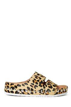 Jeffrey Campbell Jerez Studded Sandal - Leopard Pony Hair